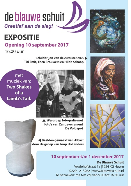 Expositie uitnodiging website